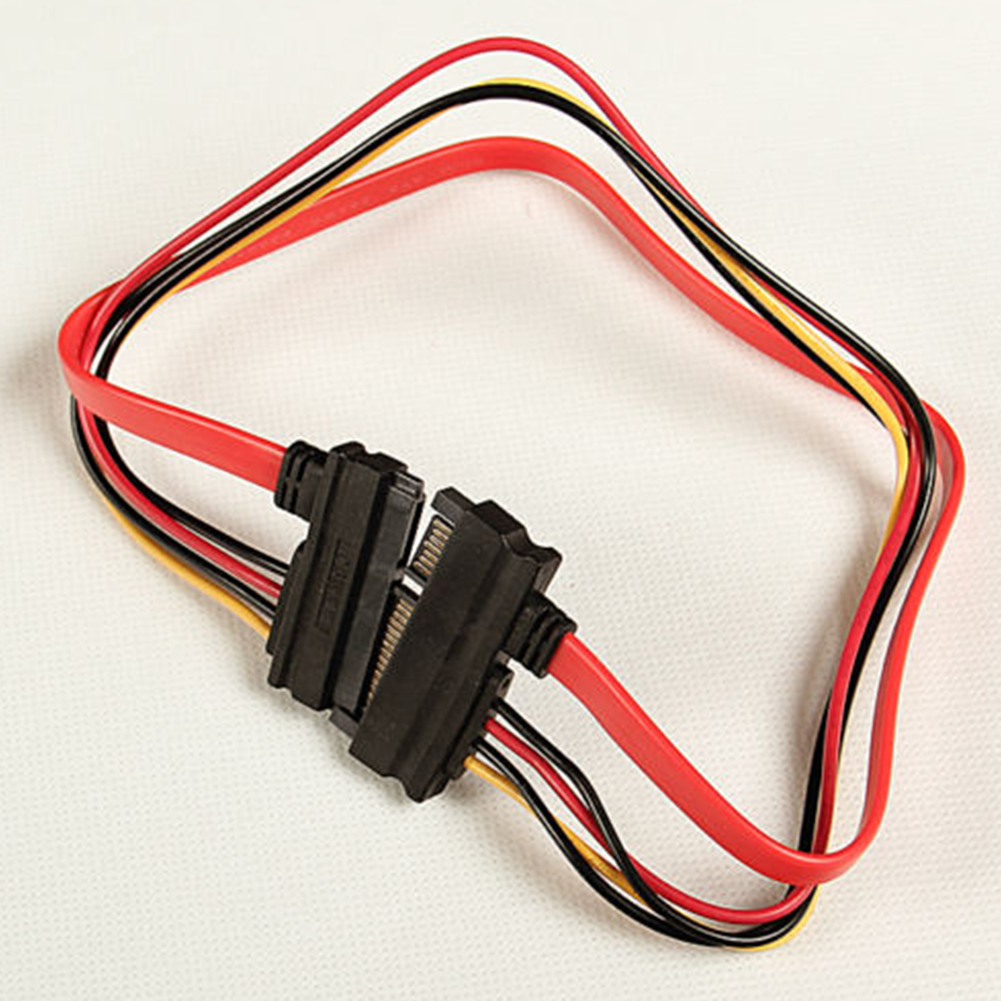 30cm 7+15 Pin Serial ATA SATA Data Power Combo Extension Cable Connector Conterver Hard Drive Connecting Wire