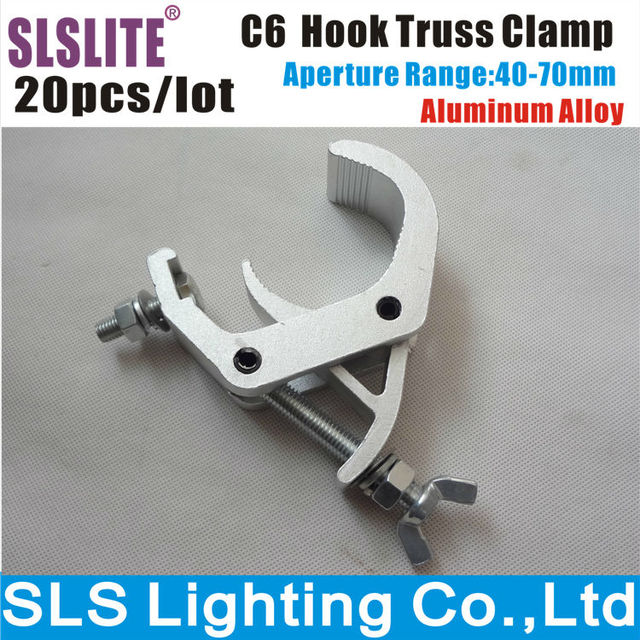20pcs Lot Aluminum Clamp For Stage Lighting Double Truss Light Hook Clamps Billet In Effect From
