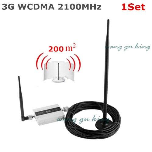 Famille LCD WCDMA UMTS 3G 2100 MHz répéteur de Signal de téléphone portable répétiteur 3G GSM amplificateur de Signal de téléphone portable avec antenne