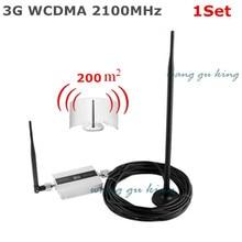LCD Familia UMTS WCDMA 3G 2100 MHz Teléfono Móvil amplificador de Señal Del Repetidor 3G GSM Teléfono Celular Repetidor de Señal amplificador de la Antena