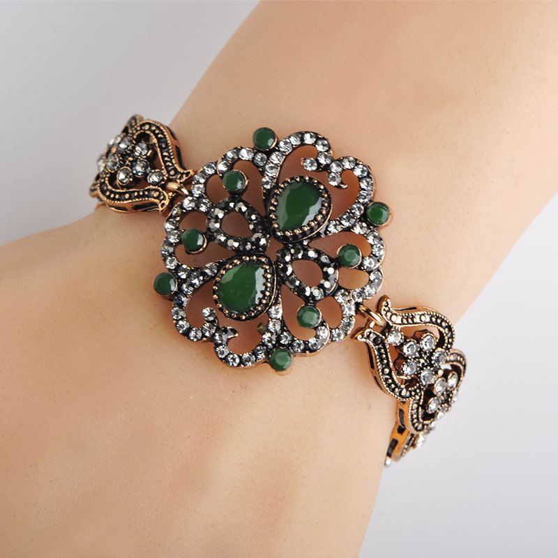 New Hairstyle For Wedding Ceremony: Blucome New Turkish Style Bracelet Crystal Resin Women