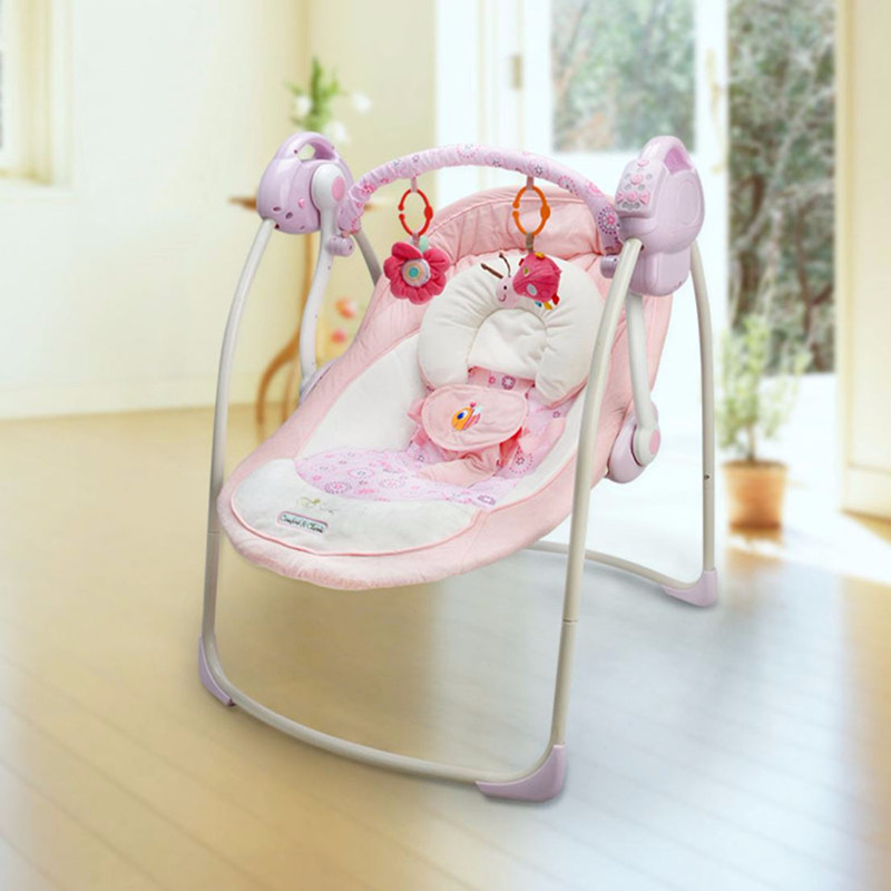 Chaise berçante bébé réglage Musical pliage coffre-fort panier de couchage pour bébé balançoire électrique chaise confort bébé berceau inclinable