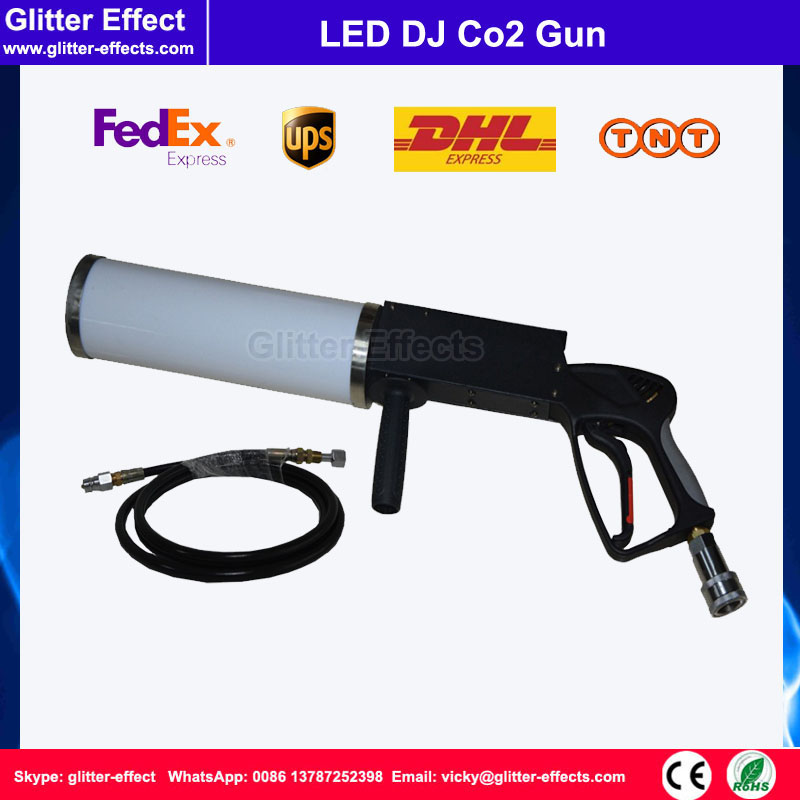 6-8m DJ stage equipment effect LED portable Co2 gun Disco theater night club LED smoke machine with 3 meter high pressure hose цена