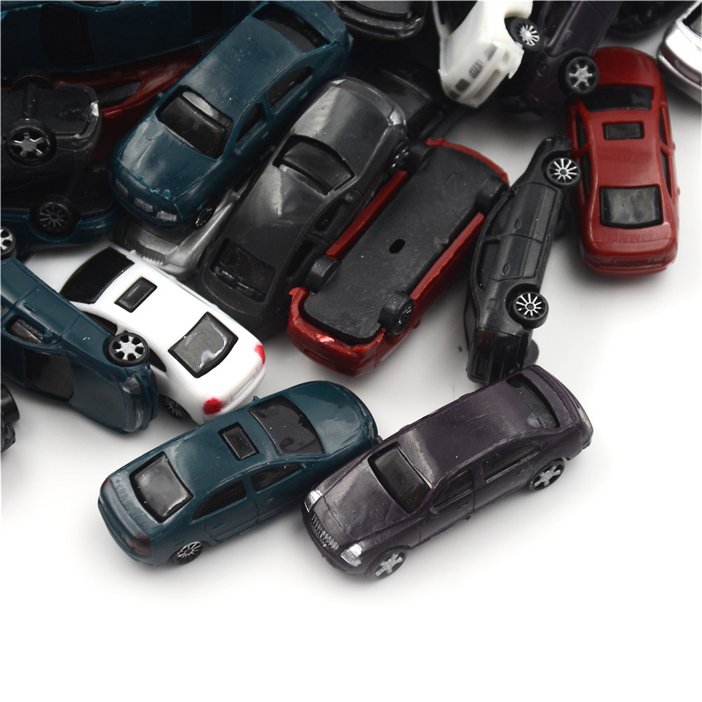 10pcs Painted Model Cars Building Train Layout Scale HO (1 To 100) CB100-3 Model Building Toy Kits Kid Best Children