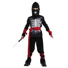 Kids Childs Skeleton Ninja Costume for Boys Halloween Purim Carnival Party Mardi Gras Fancy Dress