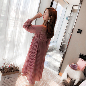 Image 2 - New Fashion Maternity Dresses Spring Autumn Long Pregnancy Dresses For Pregnant Women Dress Casual Maternity Clothes Plus Size