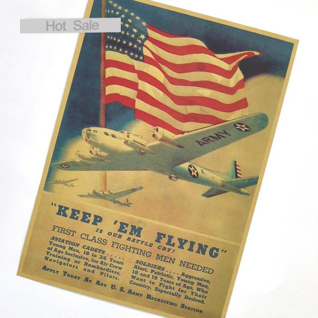 Vintage USA World War 2 ARMY Poster Retro Wall Art Crafts Paper ...