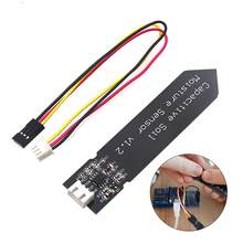 Capacitive Soil Moisture Sensor Module Not Easy To Corrode Wide Voltage Wire 3.3~5.5V Corrosion Resistant Gravity For Arduino #(China)