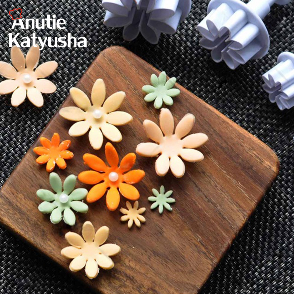 Daisy Plunger Sugar Craft Fondant Mold Cookie Cutter Set Cake Decorating Tools Healthy DIY Bakery Molds Clearance Sale