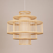 Handmade Bamboo Weaving Pendant Lamps Lantern E27 Pendant Light Japan Restaurant Hanging Lamps Coffee Bar Decor lighting G017(China)