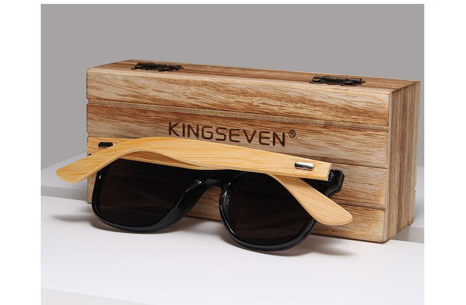 KINGSEVEN 2019 Bamboo Men Women Wooden Sun glasses 12
