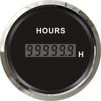 1pc Brand New Time Meters Time Gaugea 52mm Clock Meters 12V / 24V for Boat Automobile Black Color