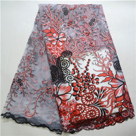 New fashion, high quality clothing, African beaded lace fabric, African embroidery, French lace fabric.New fashion, high quality clothing, African beaded lace fabric, African embroidery, French lace fabric.
