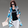 High Quality Chiffon Kimono Cardigan 2016 Summer Fashion Printed Long Blouse Shirt Women Beach Cover Up Women Tops