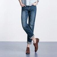 New fashion Plus size women brief straight jeans pants Big yards loose BF wind straight boyfriend jeans female woman pants 4XL