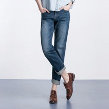 Новая мода Плюс размер женщины краткие прямые джинсы брюки Большой ярдов свободно BF ветер прямые бойфренд джинсы женские женщина брюки 4XL