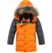 2016 crianças de inverno de qualidade para baixo casaco jaqueta grossa quente Meninos pato para baixo Jaqueta outwear crianças parkas ao ar livre tops enfant casaco