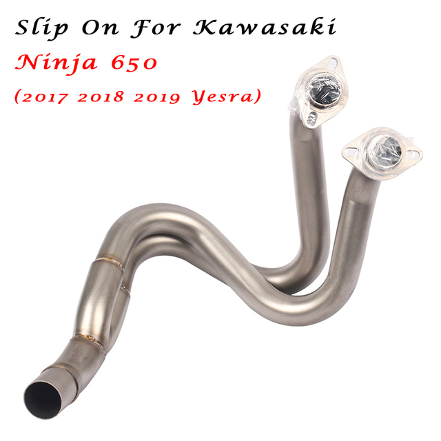 Slip on For Kawasaki NinJa650 2017 2018 2019 Yesra Motorcycle Exhaust Escape Modified Middle Connection Link Pipe
