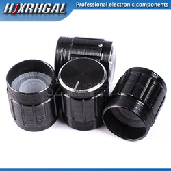 Potenciómetro de aleación de aluminio de 15*17mm, 10 Uds., interruptor giratorio de perilla de 15*17, perilla de control de volumen, negro hjxrhgal