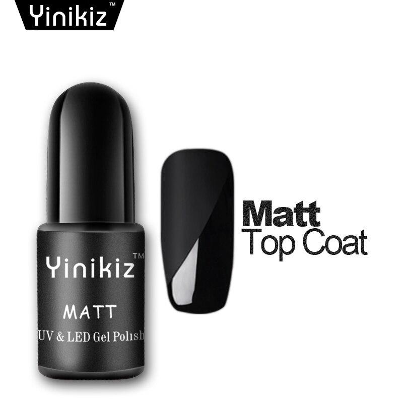 Yinikiz Black Bottle Matt Top Coat Gel Nail Polish French