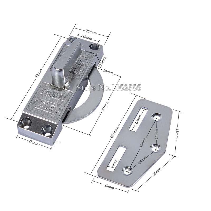 Top Designed Sliding door hook lock aluminum shift gate 202 push ...