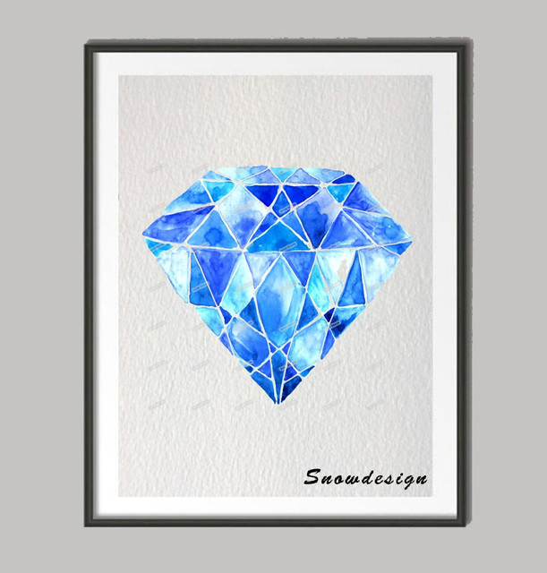 DIY Original watercolor Diamond canvas painting wall art poster print Pictures living room Home Decor wall  sc 1 st  AliExpress.com & DIY Original watercolor Diamond canvas painting wall art poster ...