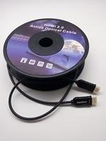 High Speed HDMI 2.0 активных оптического кабеля Ультра Super Slim 1080 P 3D 4Kx2K @ 60fps 20 м 25 м 30 м 40 м 50 м 60 м 70 м 80 м 90 м 100 м золото