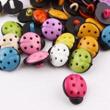 50//100pcs Ladyburg Ladybird Buttons Plastic Sewing Kid/'s Mix Lots PT01