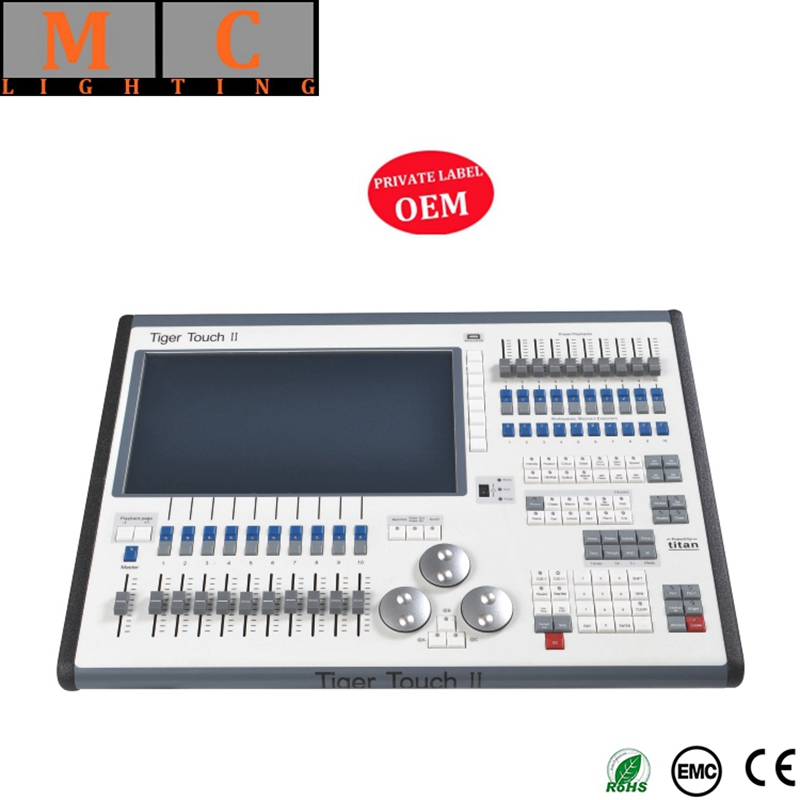 Tiger tocco dmx controller V11 Tigre Touch II 2 Console di Illuminazione Tiger Tocco dmx console con flycase
