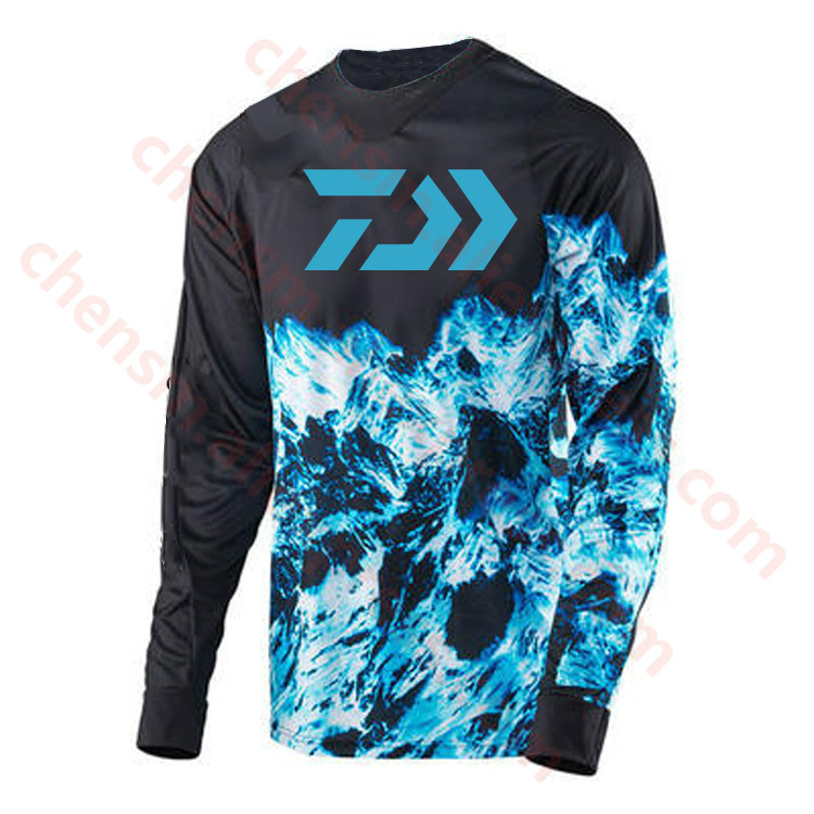New Style DAIWA CoolMax Fishing Clothing Long Sleeve Sunscreen Anti-uv Breathable Coat Summer Fishing Shirt Size XS-5XL