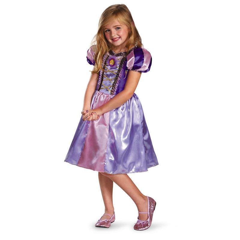 Meisjes Sparkly Prinses Rapunzel Kostuum Met Karakter Cameo - Carnavalskostuums