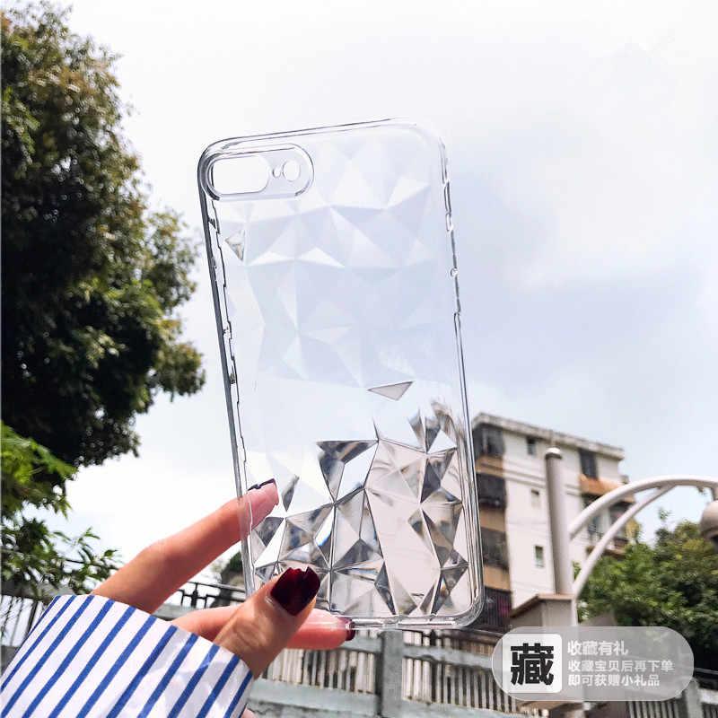 אופנה יוקרה מבריק מקרה עבור iPhone X 10 7 XR Xs מקס Coque דק נקה רך סיליקון TPU מקרה עבור iPhone 6 6 S 7 8 בתוספת כיסוי