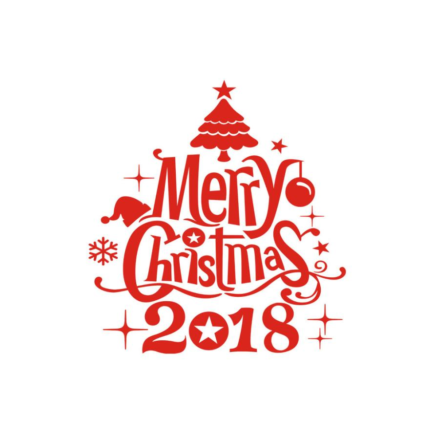 Wall stickers Happy New Year 2018 Merry Christmas Tree Wall Sticker Home Shop Windows Decals wall stickers bedroom APR19