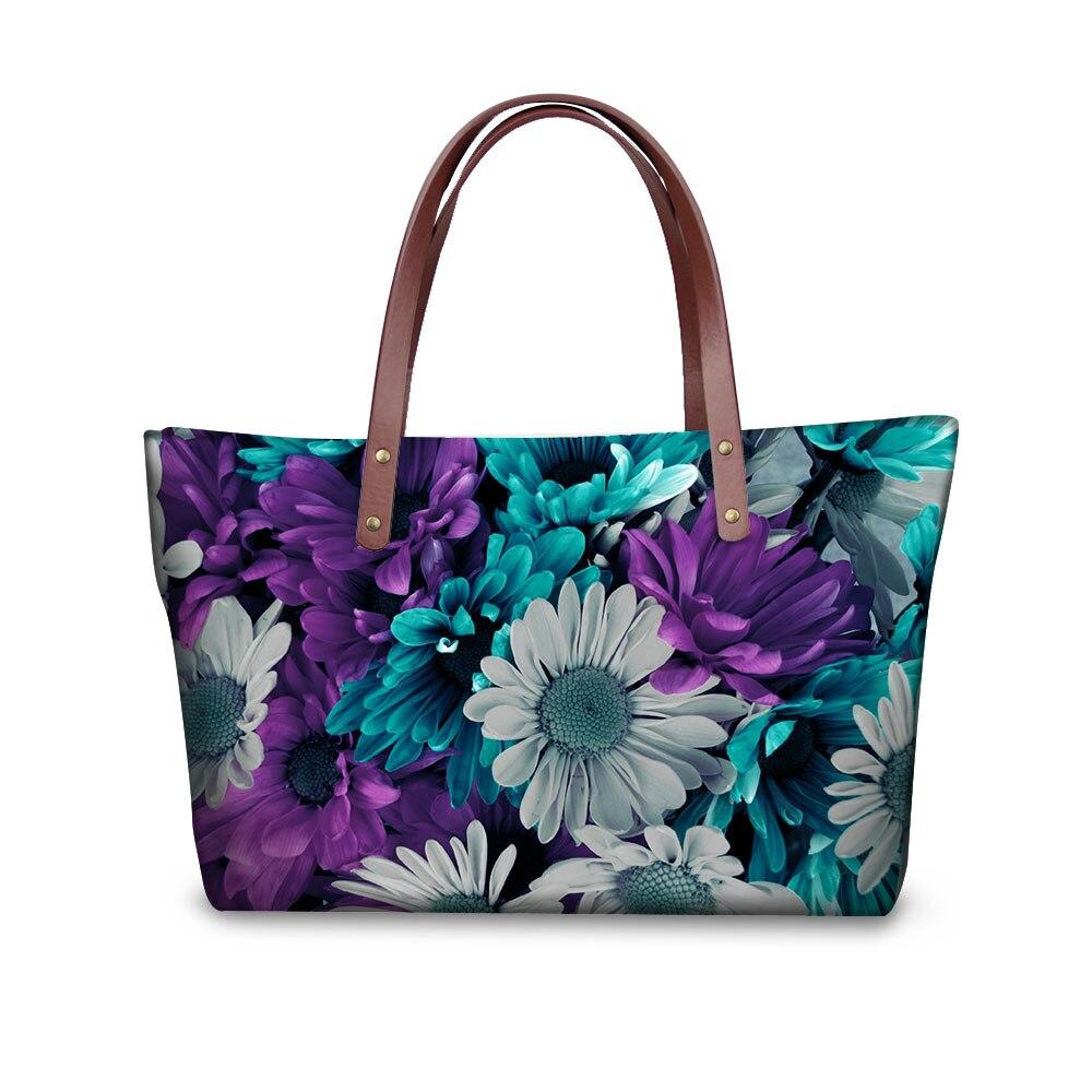 New Items Women Midium font b Handbags b font for Ladies Famous Brand Fashion Fancy Flower