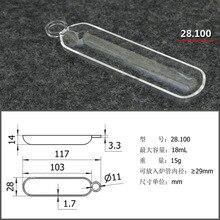 Furnace Tube Combustion Quartz 1pc Lab-18ml Crucible Boat Tubular Transparent High-Temperature-Resistance