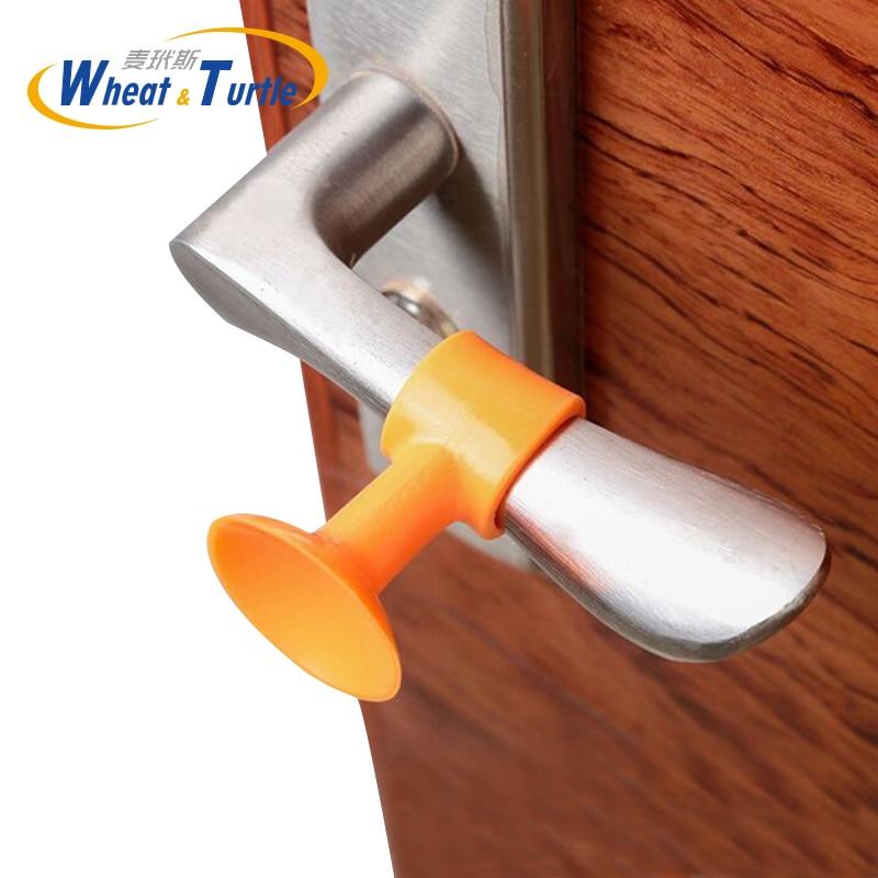 3pcs/lot Wall Anti-collision Window Door Stop With Sucker Silicone Thicken Wall Protectors Guard Pads Durable Door Handle Bumper