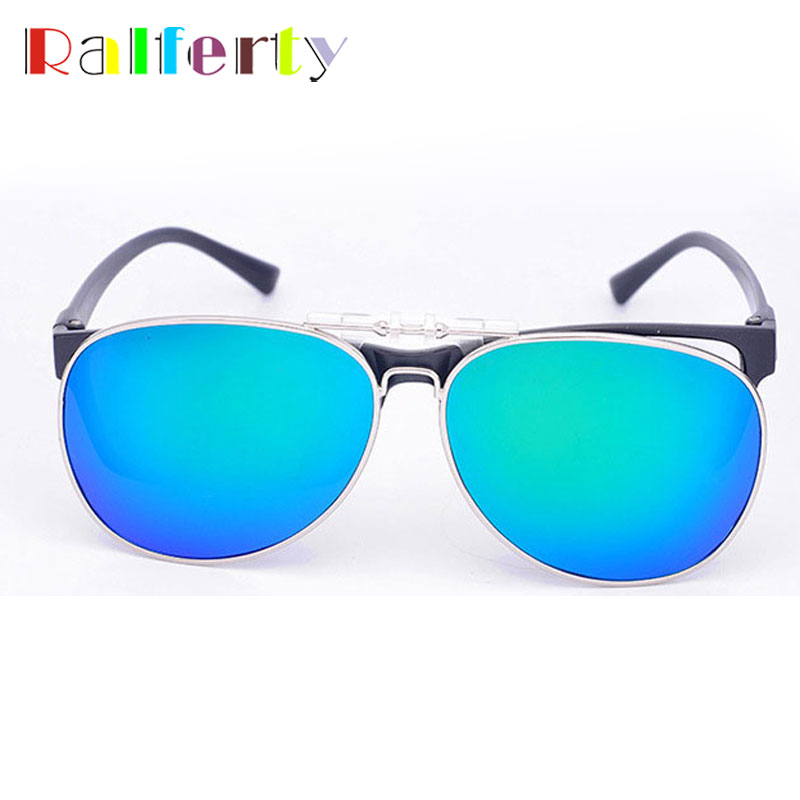 ae2a638eef1 Ralferty Pilot Mirrored Polarized Clip On Sunglasses Men Women Flip Up Lens  Driving Polaroid Fit Over Glasses Myopia Clip Oculo-in Sunglasses from Men s  ...