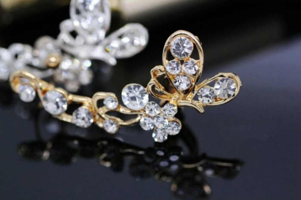 2018 moda 1 Pza plateado/cartílago dorado Punk oreja brazalete Clip en pendientes no Piercing Cruz Clip pendientes para joyería de mujer