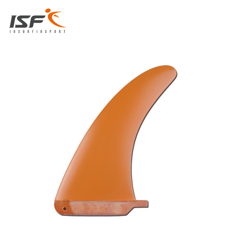 orange longboard fins quilhas/surf board fins/paddle board fin/center fin with paint 10 inch surfing longboard fins quilhas paddle surfboard longboard fins fiberglass wakeboard fins