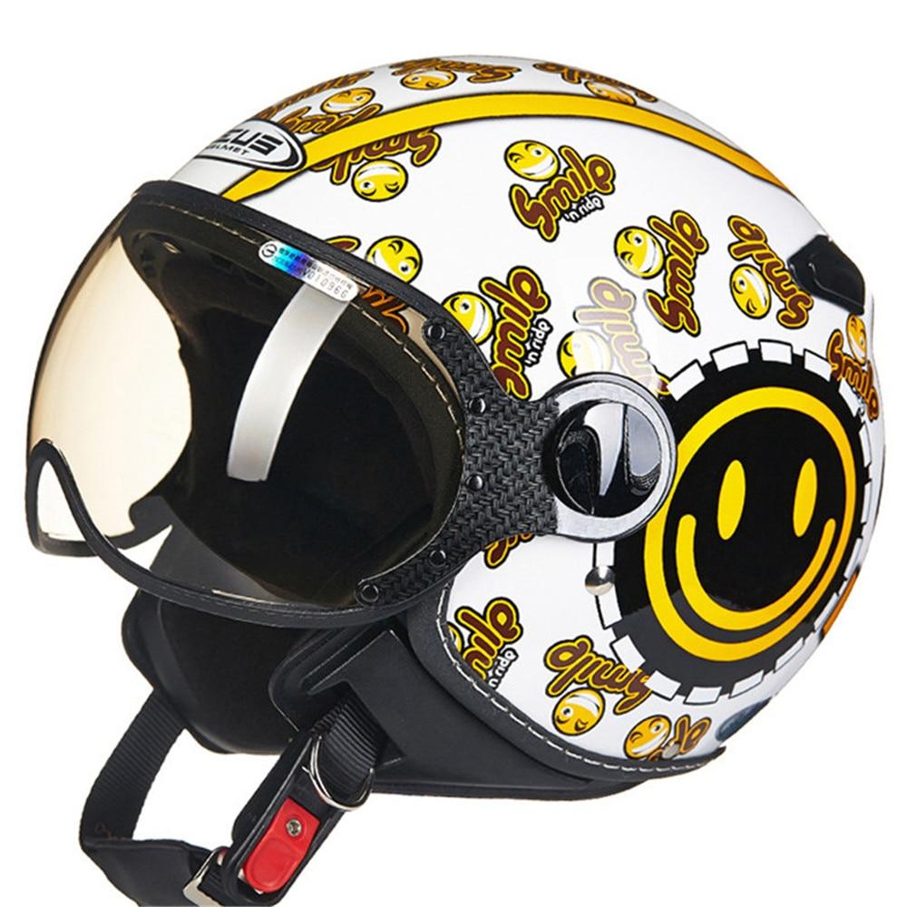 Lovers Motorcycle Helmet Chopper Open Face Vintage Helmet 210c1 Moto Casque Casco motocicleta Capacete Pilot Men Women Helmets