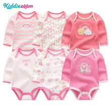 kiddiezoom 6Pcs/lot Baby Girl Clothes Newborn Boy Bodysuits