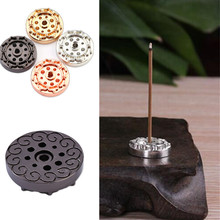 Elegant Mini Incense Burner Holder Brass Incense Base with 9 Slot for Incense Sticks and Incense Cone Home Decoration