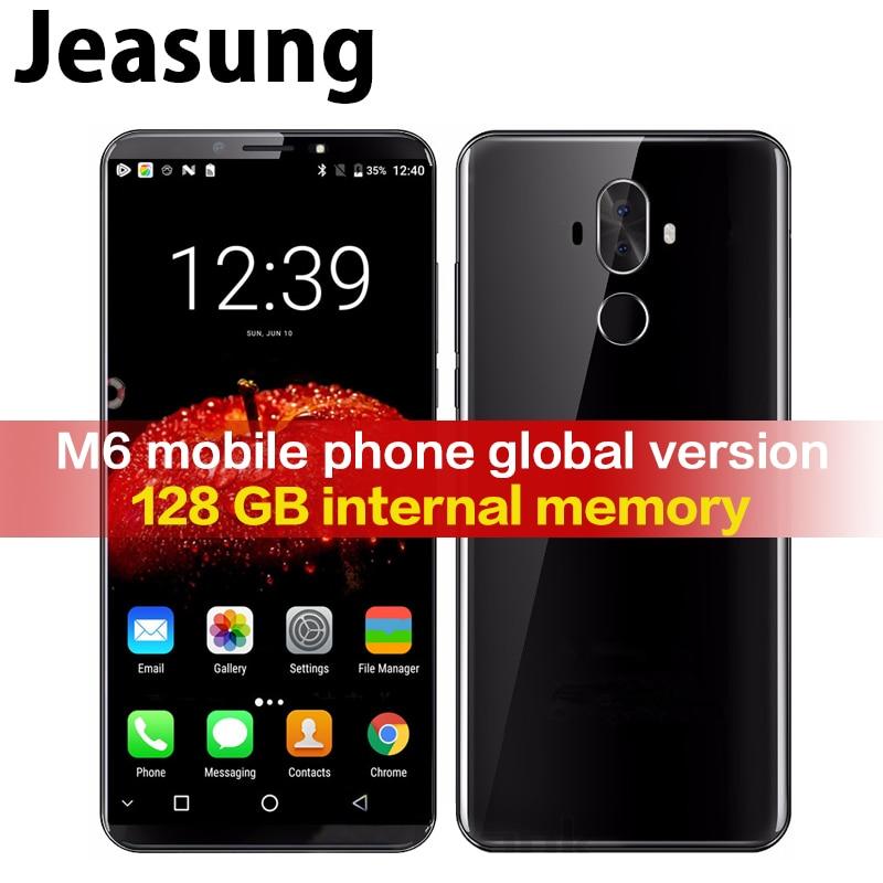 Jeasung Pulada M6 haut de gamme 4G LTE Smartphone 6 + 128 GB MT6757 Octa Core Android 8.0 téléphone portable avec lecteur d'empreintes digitales