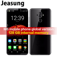 Jeasung Pulada M6 High End 4G LTE Smartphone 6+128GB MT6757 Octa Core Android 8.0 mobile phone with fingerprint reader
