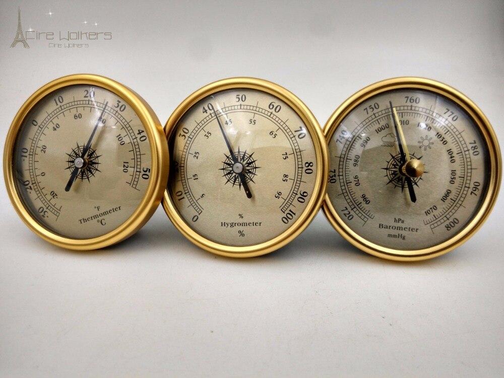 Großhandel 3 in 1 Qualität Finish Zifferblatt Traditionellen Wetterstation Barometer Hygrometer Temperatur 1 satz