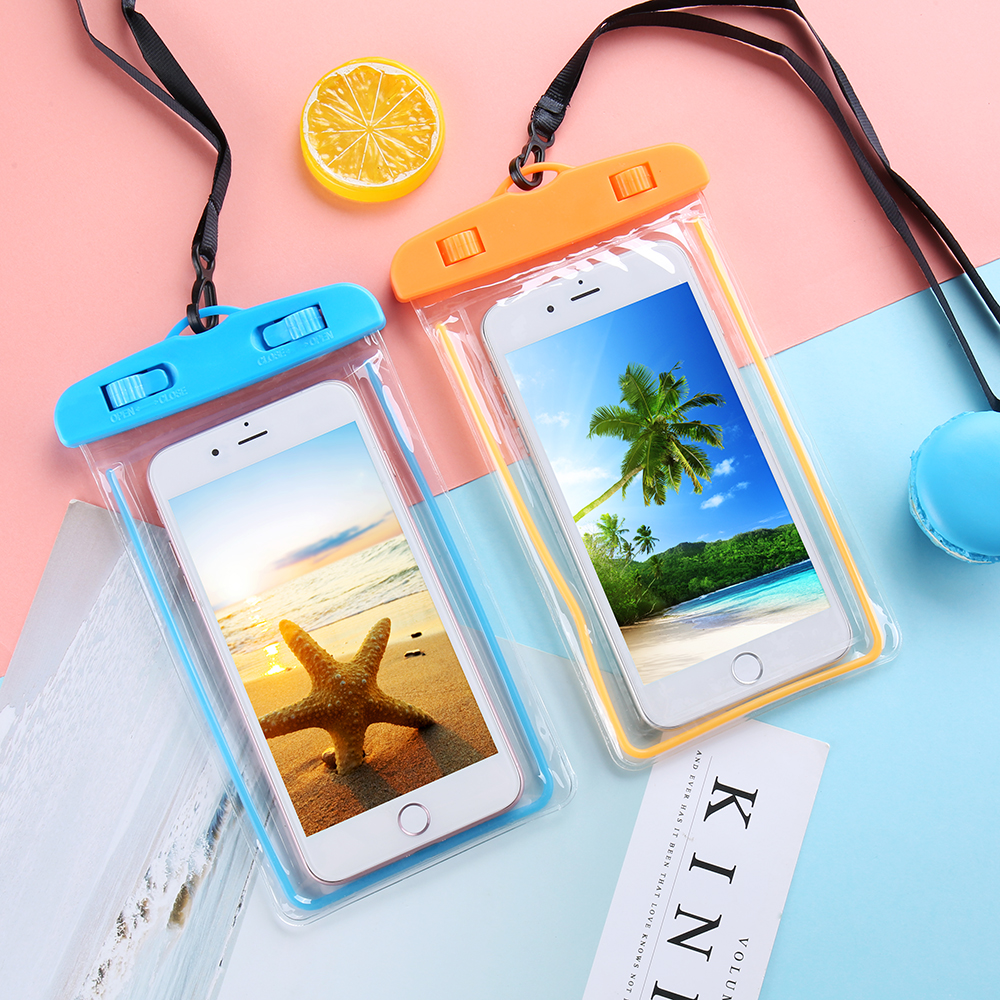 VAVA Universal Waterproof Smartphone Case For Phone Bag 6.0 Underwater Luminous Water Proof iPhone Huawei Xiaomi