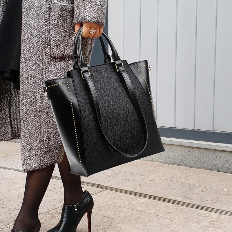 Luxury Bolso MujerCasual Women PU Leather Bag Big Women Shoulder Bags Luxury Women Messenger Bags handbag