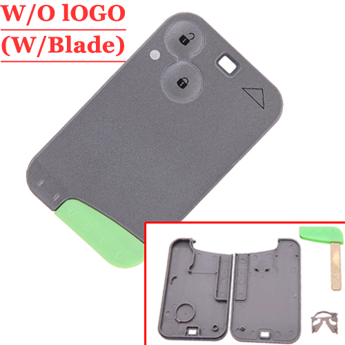 цена Free shipping(5pcs/lot) 2 Button Remote Key Case For Renault laguna card with green blade
