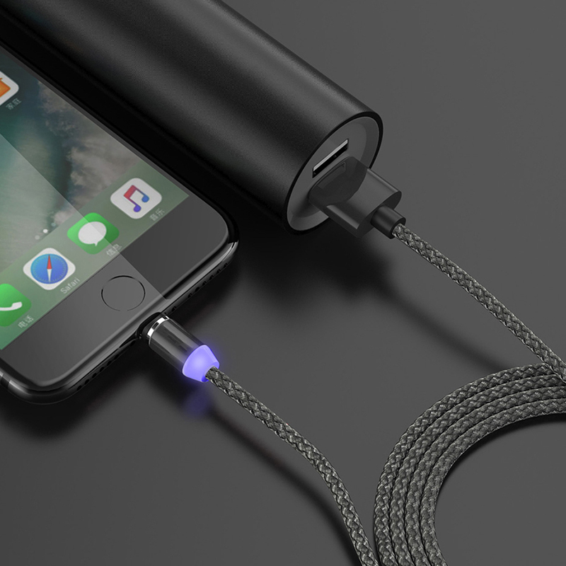 Rosinop 3 in 1 USB Cable Magnetic Charging Cable For iphone xr xs For Lightning Cable Type C Micro USB Magnetic Charger Android in Mobile Phone Cables from Cellphones Telecommunications