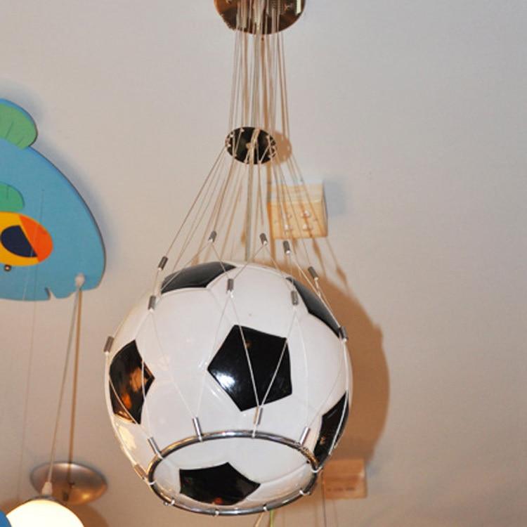 Free shipping Foottball lamp soccer ball light pendant lamp children room glass hanging light kids Christmas Gifts boy's present
